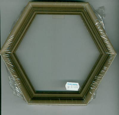 Wood Hexagon Frame - Dove Grey Cross Stitch Frames