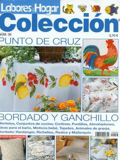 Labores del Hogar Coleccion Number 36 Cross Stitch Magazine
