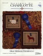 Blue Ribbon Primitives I Cross Stitch