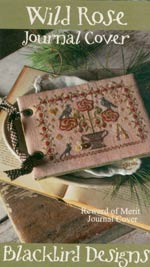Wild Rose Journal Cover Cross Stitch