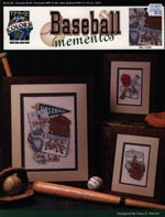 Baseball Mementos Cross Stitch