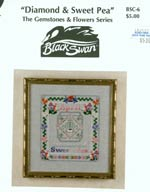 Diamond and Sweet Pea Cross Stitch