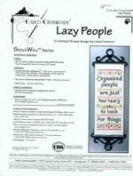 Lazy People Cross Stitch