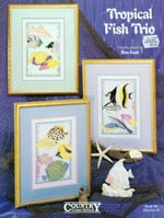 Tropical Fish Trio Cross Stitch