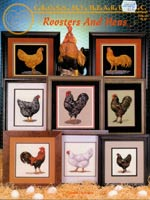 Roosters And Hens Cross Stitch