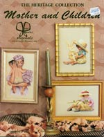 Mother and Children Cross Stitch