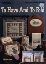 To Have And To Fold Cross Stitch