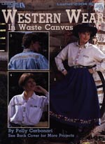Western Wear In Waste Canvas Cross Stitch
