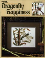 Dragonfly Happiness Cross Stitch