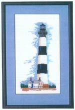 Lighthouse XlV - Bodie Lighthouse, North Carolina Cross Stitch