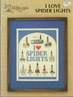 I Love Spider Lights Cross Stitch