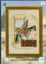 Indian and Horse Cross Stitch