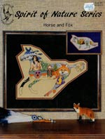 Spirit of Nature Series, Horse and Fox Cross Stitch