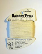Rainbow Gallery Rainbow Tweed RT01 Ecru Cross Stitch