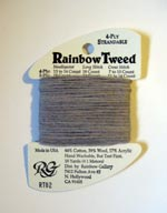 Rainbow Gallery Rainbow Tweed RT02 Medium Shell Gray Cross Stitch