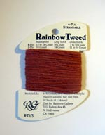 Rainbow Gallery Rainbow Tweed RT13 Terra Cotta Cross Stitch