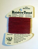 Rainbow Gallery Rainbow Tweed RT24 Dark Mauve Cross Stitch