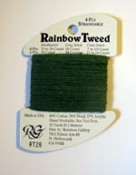 Rainbow Gallery Rainbow Tweed RT28 Dark Green Cross Stitch