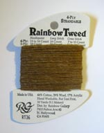 Rainbow Gallery Rainbow Tweed RT36 Dark Tan Cross Stitch