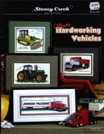 More Hardworking Vehicles Cross Stitch