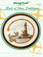 Rock Of Ages Lighthouse Cross Stitch