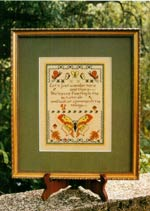 Moment With A Moth Cross Stitch