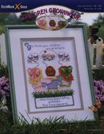 Children Growing Up Cross Stitch