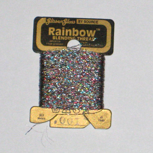 Rainbow Blending Thread: Multi White  Cross Stitch