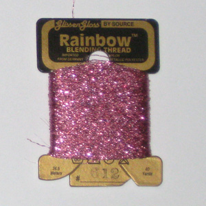 Rainbow Blending Thread: Pink Cross Stitch