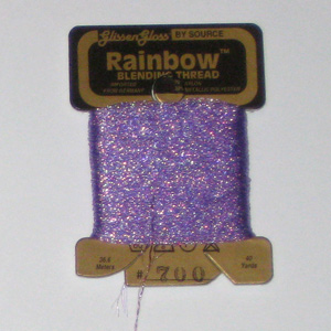 Rainbow Blending Thread: Iridescent Violet  Cross Stitch