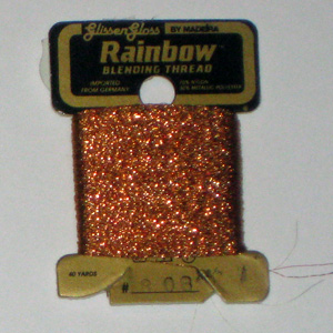 Rainbow Blending Thread: Copper Cross Stitch
