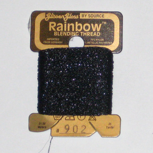Rainbow Blending Thread: Black Cross Stitch