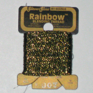 Rainbow Blending Thread: Black Gold  Cross Stitch
